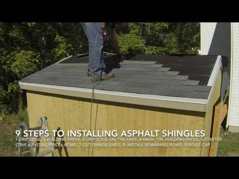 ▶ How To Build A Shed - Part 9 - Install Asphalt Shingles On Shed Roof - YouTube