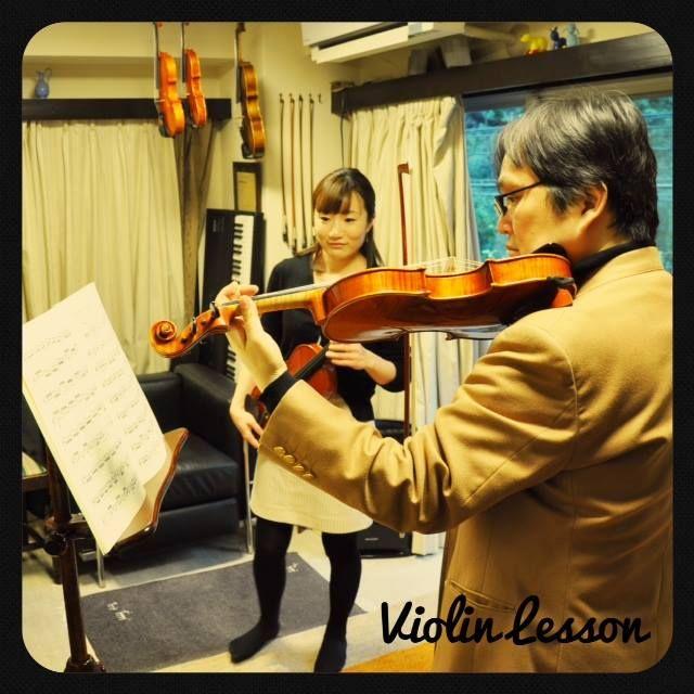 バイオリンのレッスン風景