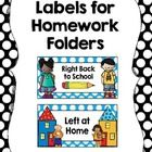 This freebie includes labels for student homework folders. Last year, I had a problem with their folders being cluttered with handouts/flyers that ...