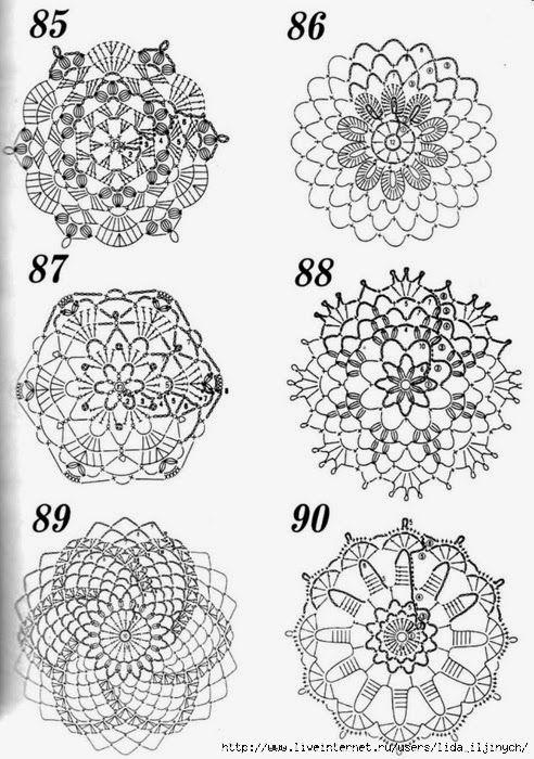 960 best Szydełko - BN images on Pinterest | Crochet snowflakes ...