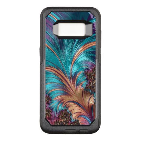 Beautiful Fractal Feather Design OtterBox Commuter Samsung Galaxy S8 Case #fractal #pattern #samsung #galaxy #protective #cases