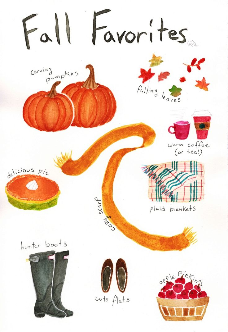 Fall favorites. Watercolors.
