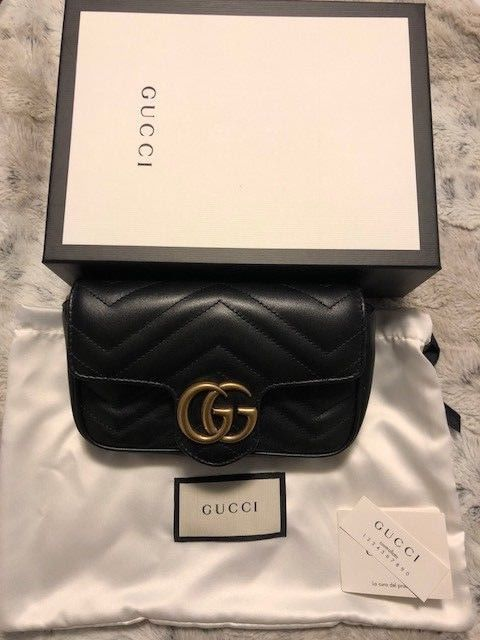 cc16642cfc69 Authentic Gucci GG Marmont Matelasse Leather Super Mini Bag ...