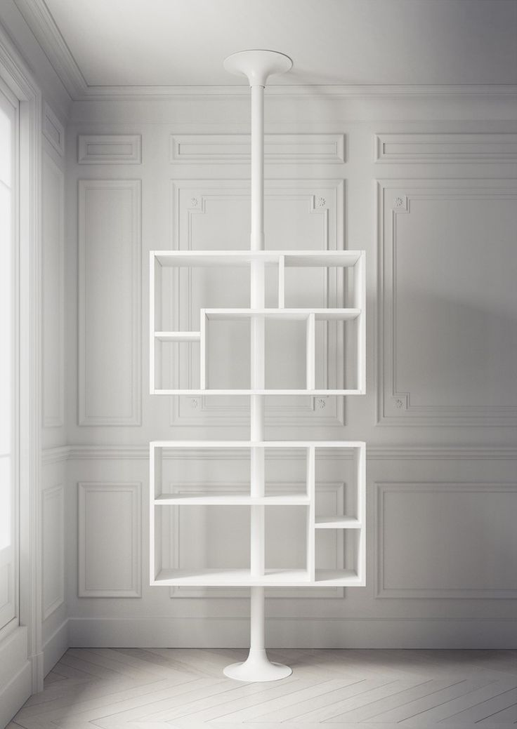 Open double-sided floor-ceiling mounted bookcase SHOWSHELF - @resizedesign