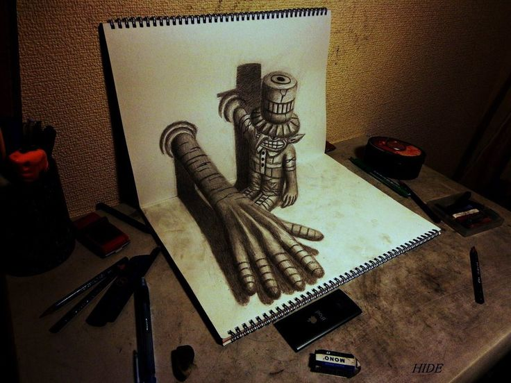 17 best ideas about Optical Illusions Drawings on Pinterest ...