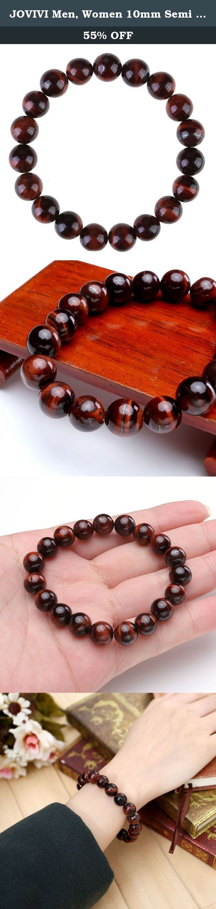 "JOVIVI Men, Women 10mm Semi Precious Gemstone 8mm Round Beads Stretch Bracelet 7""L. *Thank you for visiting JOVIVI Store. We are specializing in jewelry making beads and findings. *If you like this product, we advise you add it to wish list now, so that we will inform you immediately once it has a discount. *And you can click our brand name which on the top of the title; you can find more jewelry making beads with high quality and reasonable price. *If you have any question or advice…"