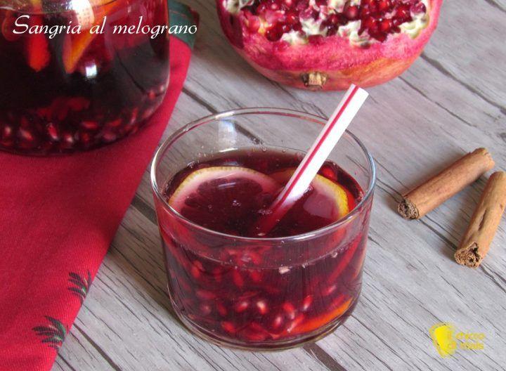 sangria al melograno ricetta cocktail per capodanno aperitivo per le feste il chicco di mais