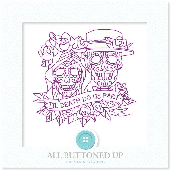 Sugar Skull Bride Groom Digital Cut File Svg Dxf