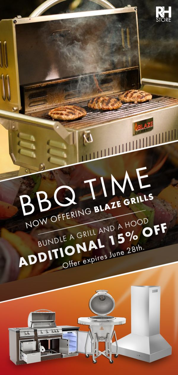 Start Grilling In Your Outdoor Kitchen With Our All New Blaze Grills Bundle A Blaze Grill And An Outdoor Range Outdoor Range Hood Range Hood Outdoor Kitchen