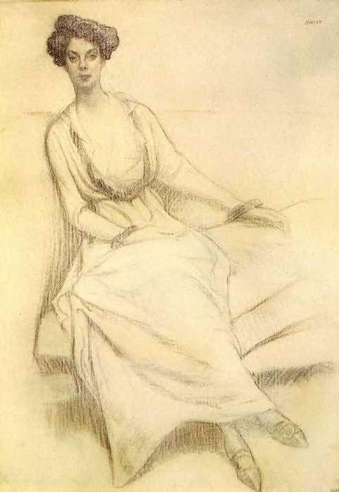Л. Бакст. Портрет княгини Ольги Константиновны Орловой, 1909 | Фото: artchive.ru