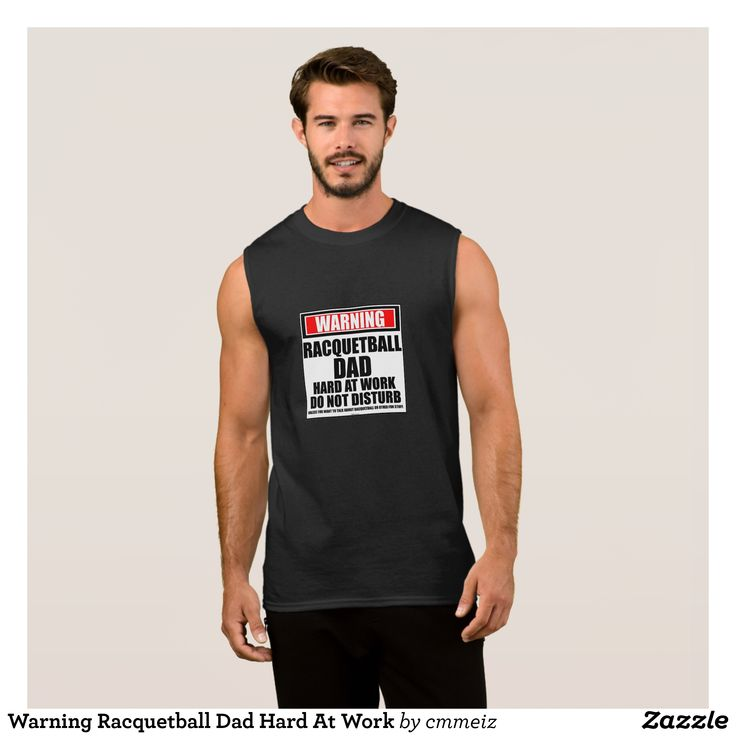 Warning Racquetball Dad Hard At Work Sleeveless Shirt - Comfy Moisture-Wicking Sport Tank Tops By Talented Fashion & Graphic Designers - #tanktops #gym #exercise #workout #mensfashion #apparel #shopping #bargain #sale #outfit #stylish #cool #graphicdesign #trendy #fashion #design #fashiondesign #designer #fashiondesigner #style