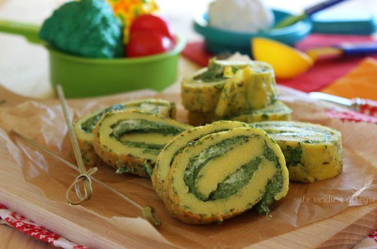 Rotolini di frittata con spinaci e ricotta