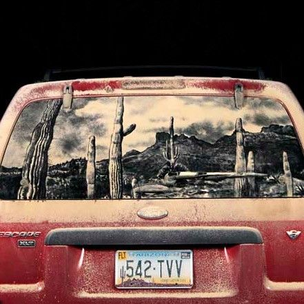 Best Dust Art Images On Pinterest Car Artworks And Cars - Scott wade makes wonderful art dusty car windows
