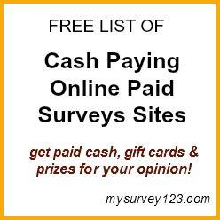 http://mysurvey123.com/best-survey-sites-that-pay-cash/ -- Best Legit Online Survey Sites That Pay Cash: