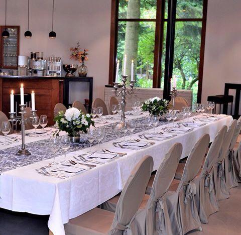 Table setting for five courses @De Boschvijver