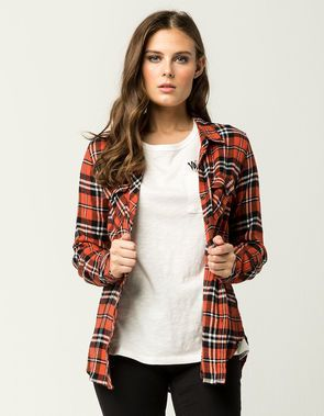 VOLCOM Fly High Womens Flannel Shirt