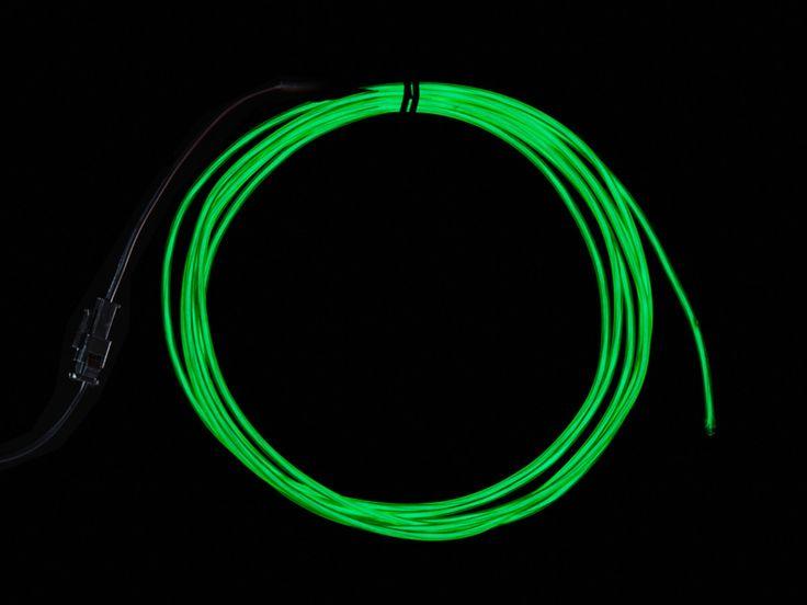 EL wire starter pack - Green 2.5 meter (8.2 ft) ID: 584 - $19.95 : Adafruit Industries, Unique & fun DIY electronics and kits