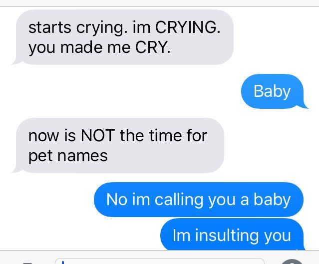 (texts between ella and hiro. ella is the blue text.)