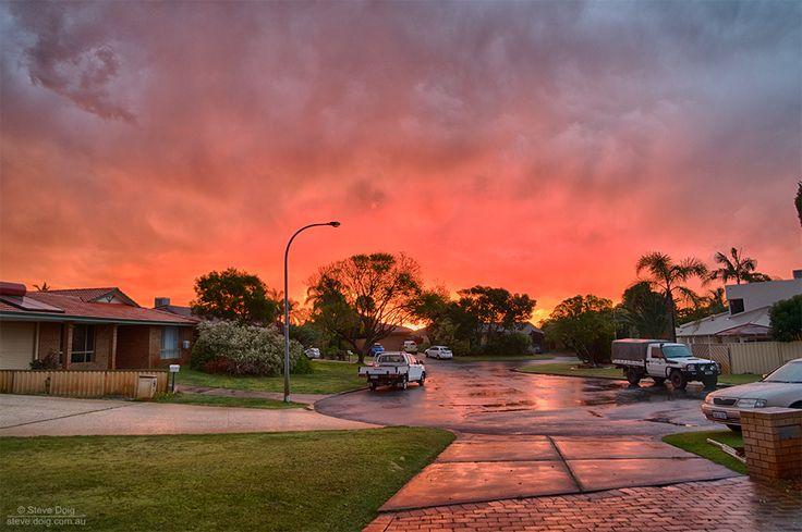 post-thunderstorm #sunset #Perth #thisisWA