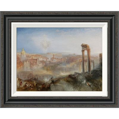 Global Gallery 'Modern Rome - Campo Vaccino' by Joseph Mallord William Turner Framed Painting Print Size:
