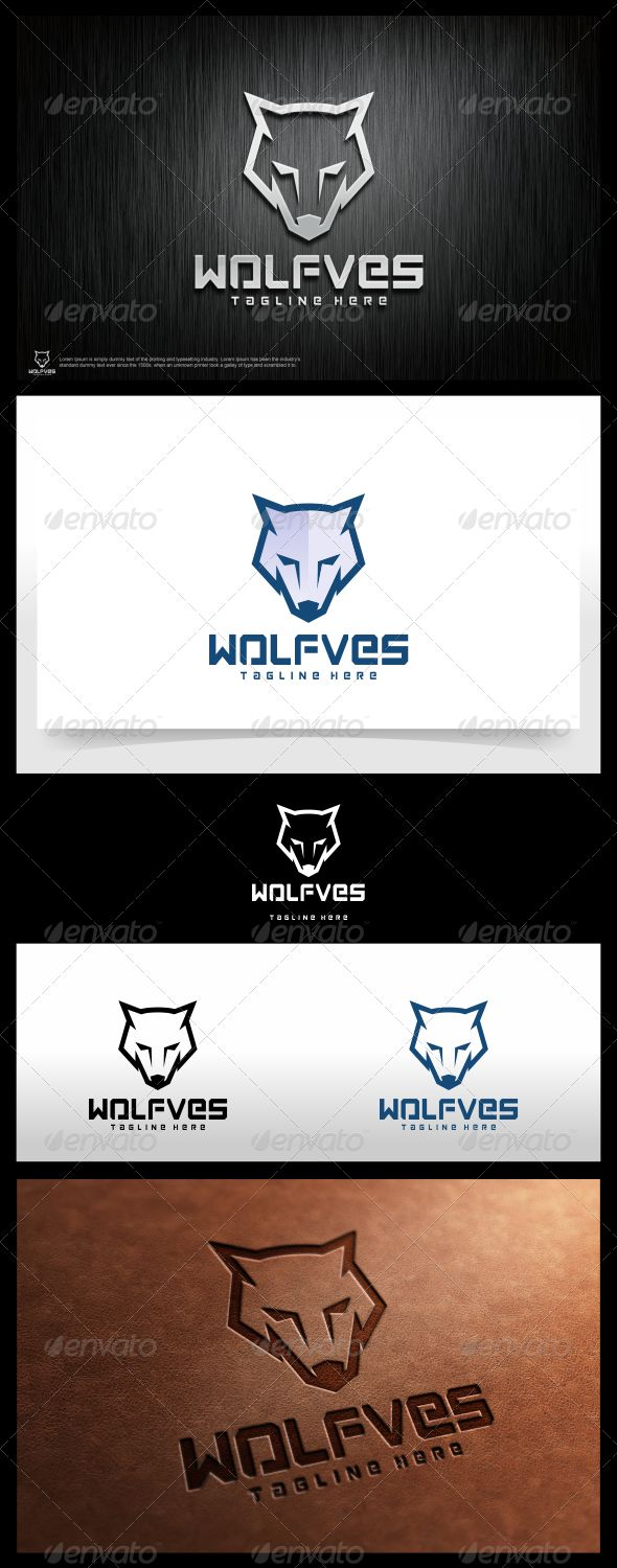 Wolfves  Logo Design Template Vector #logotype Download it here: http://graphicriver.net/item/wolfves-logo-template/6051217?s_rank=181?ref=nexion
