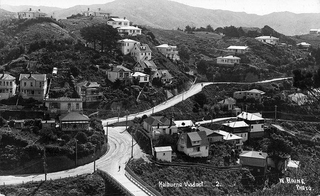 Kelburn Viaduct, Glenmore Street and Northland Road areas, Wellington, [ca late 1920s] by National Library NZ on The Commons, via Flickr