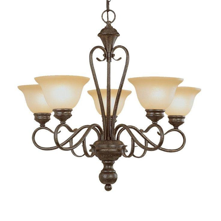 shop millennium lighting devonshire 5 light burnished gold on lowes paint sale today id=59088