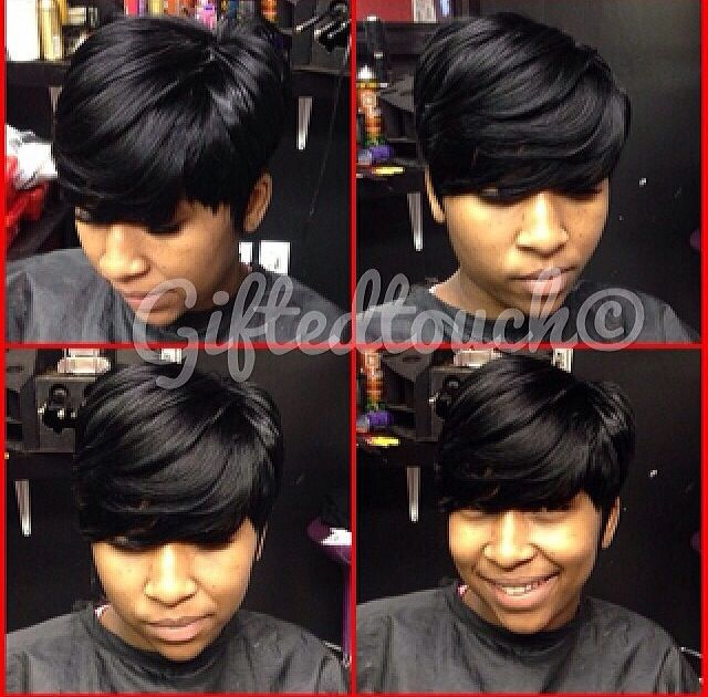 Short Black Hairstyles With Bangs 116 Best Sew In Images On Pinterest  Black Girls Hairstyles Bob