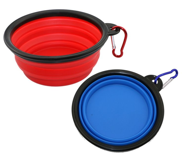 ONME 2 Pack Collapsible Travel Dog Bowl, Folding Portable Bowls for Cats Dogs, Silicone Collapsing Pet Bowls with Carabiner Belt Clip, Red  Blue >> You will love this! More info here : Cat items
