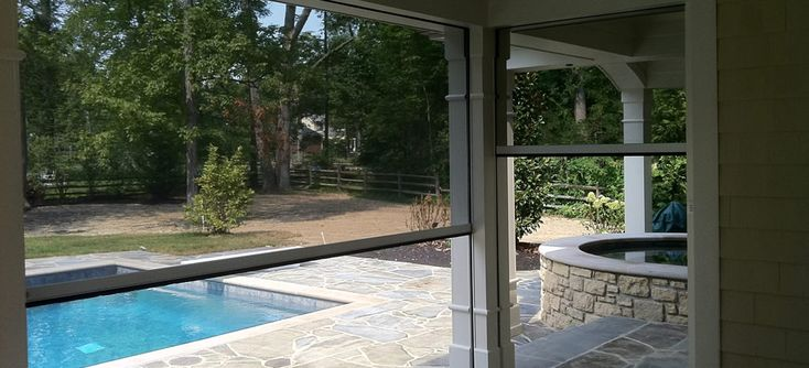 30 best porch screens images on pinterest retractable for Retractable screen porch systems