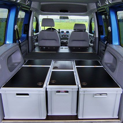 basic skippy vw caddy camper vw bus ausbau camping. Black Bedroom Furniture Sets. Home Design Ideas