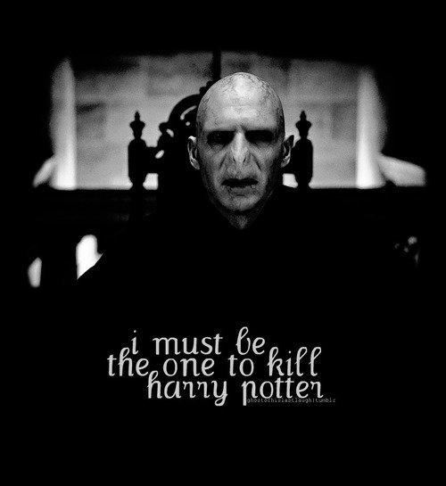 I must be the one to kill Harry Potter
