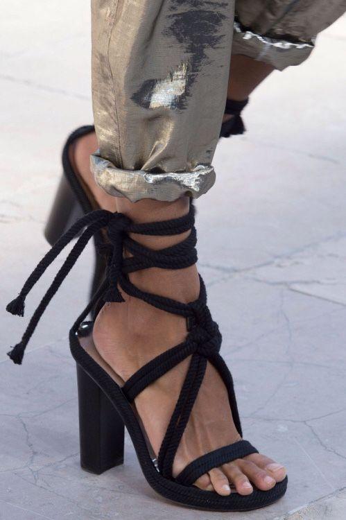 "fashionfeude: "" Shoe Porn at Isabel Marant Spring Summer 2016"