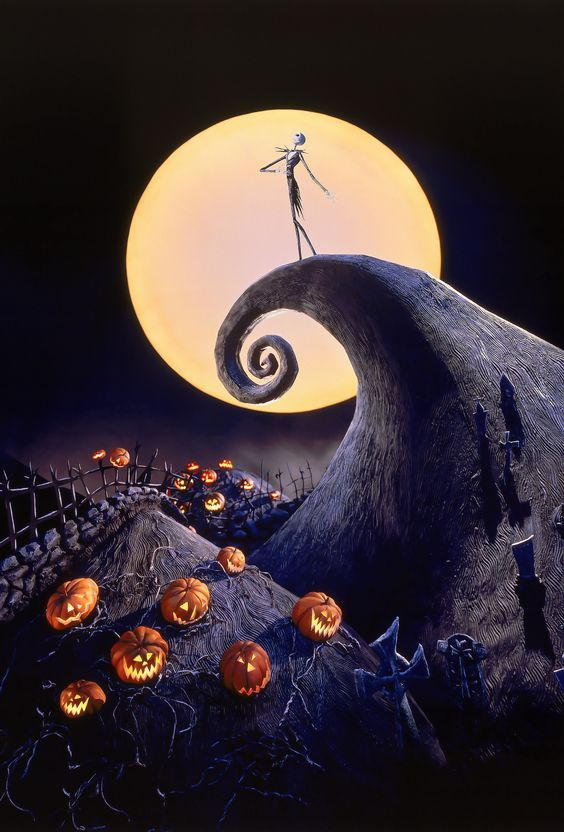 ... Lovely Nightmare Before Christmas Wall Mural Awesome Ideas