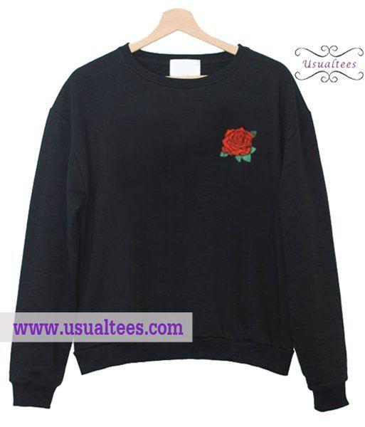 Rose Black Sweatshirt