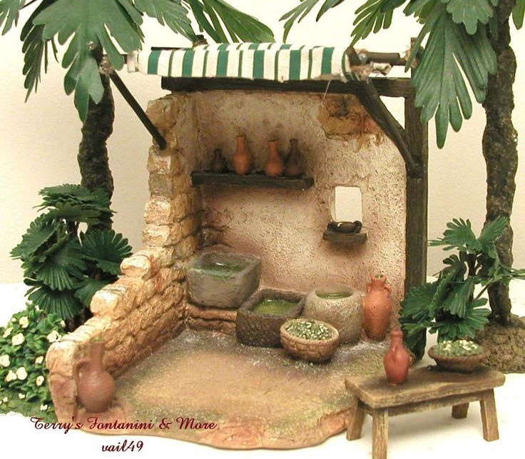 "FONTANINI ITALY 5"" RETIRED OLIVE SHELTER 2006 NATIVITY VILLAGE BLDG 54301 NIB #Fontanini"