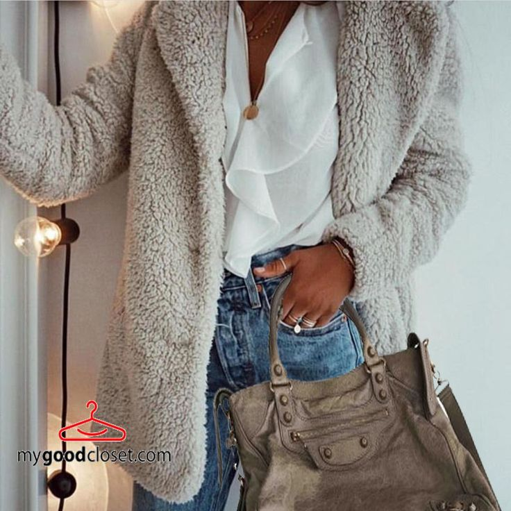 Get involved in this winter's cutest, coziest trend ,teddy coat matched perfectly with a classic #balenciaga #bags.  Find more now on sale up to 70% off retail price @mygoodcloset.com !!! follow us on instagram @ my_goodcloset