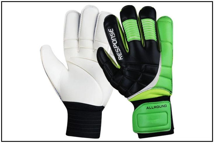 3color Professional football ball/bola de futebol gloves soccer goal keeper goalkeeper fingerstall goalie kids adult size 8 9 10
