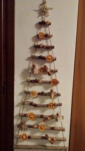 Hand made Wood Christmas Tree- albero di Natale in legno fatto a mano..