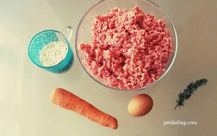 Comida casera para perros Receta Albóndigas de carne y avena (Fotos y video) - PetDarling