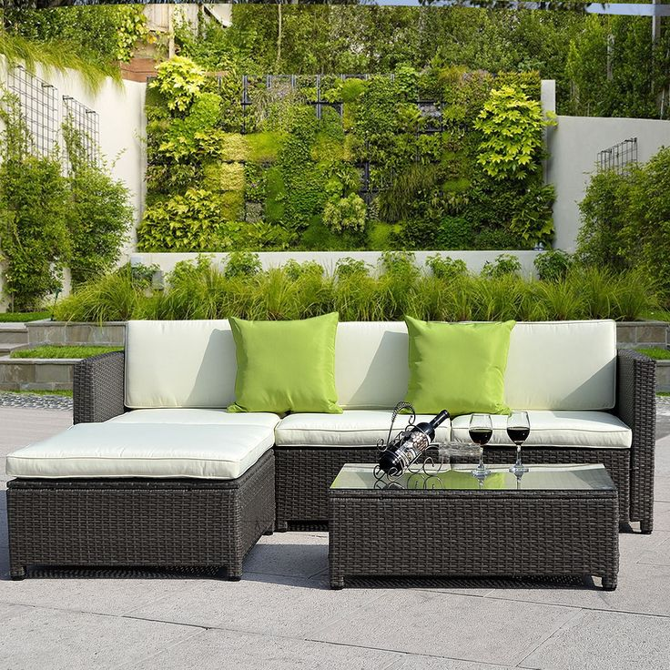RATTAN GARDEN FURNITURE SET CHAIRS SOFA TABLE OUTDOOR CONSERVATORY WICKER   eBay