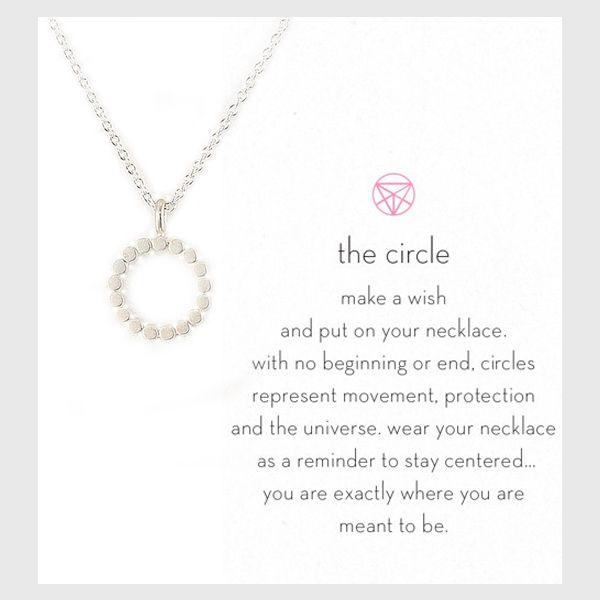 Bestel deze mooie Cirkel ketting ★★★★★ als reminder om gecentreerd te blijven, terug in je kracht te komen en om de stem van je hart te volgen.