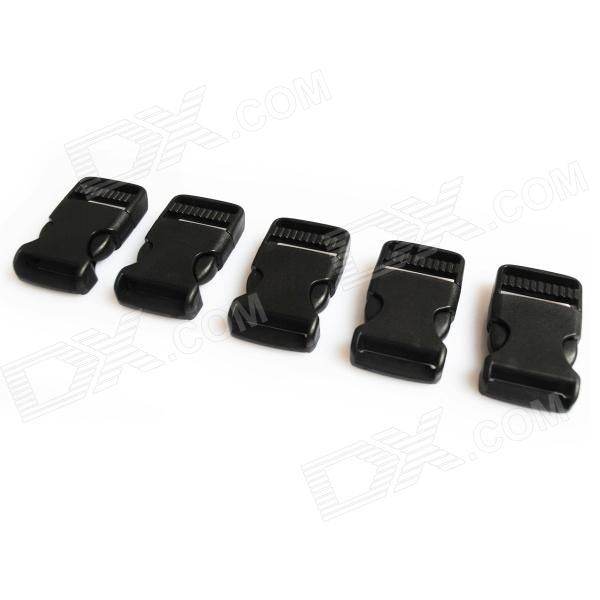 Model: 20261; Quantity: 5 piece(s) per pack; Color: Black; Material: POM; Specification: Size: 5.4x3.2x1.2cm, luggage bag buckles, great for outdoor device and DIY; Packing List: 5 x Luggage buckles; http://j.mp/1p10uif