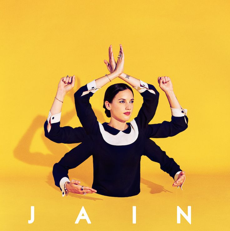 Surreal Artworks for Jain Album Cover  The Parisian studio Paul&Martin imagined various proposals for the album cover of Makeba by the singer Jain (represented by Sony Music). Surrealist and colored photos in a style which oscillates between Indians divinities and colored minimalism the whole in yellow and royal blues tones.        #xemtvhay