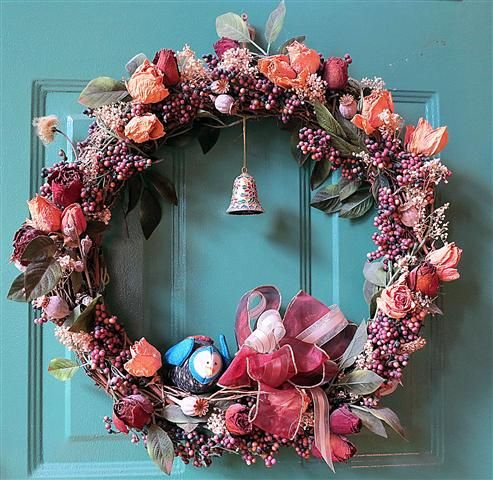 Good Dried Flower Wreath And Other Ideas For Crafting With Dried Flowers Photo