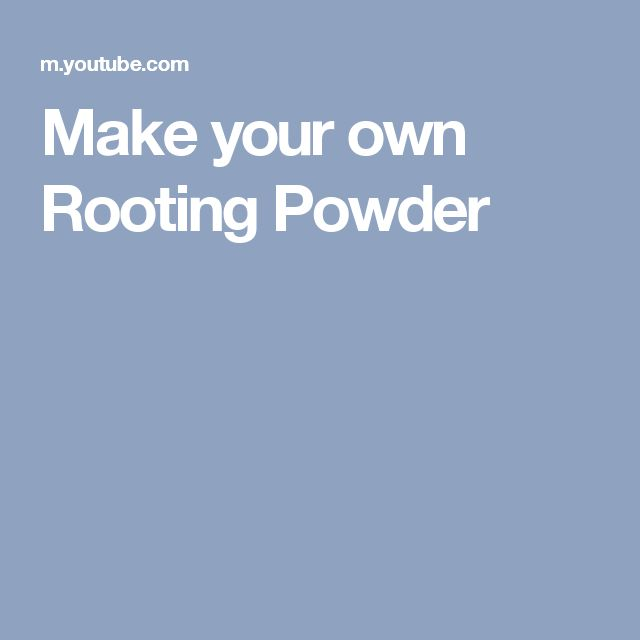 Make your own Rooting Powder