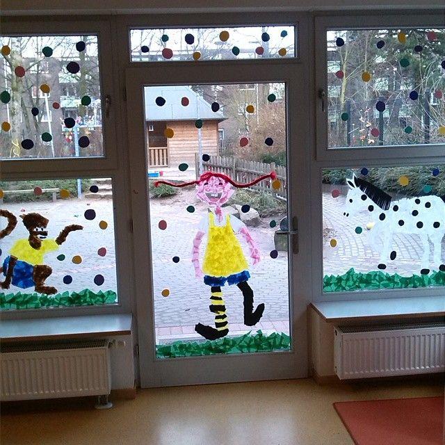 Pippi Langstrumpf Fensterdeko -