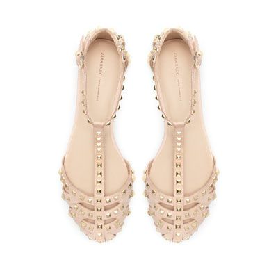 zara studded sandal - just got these!