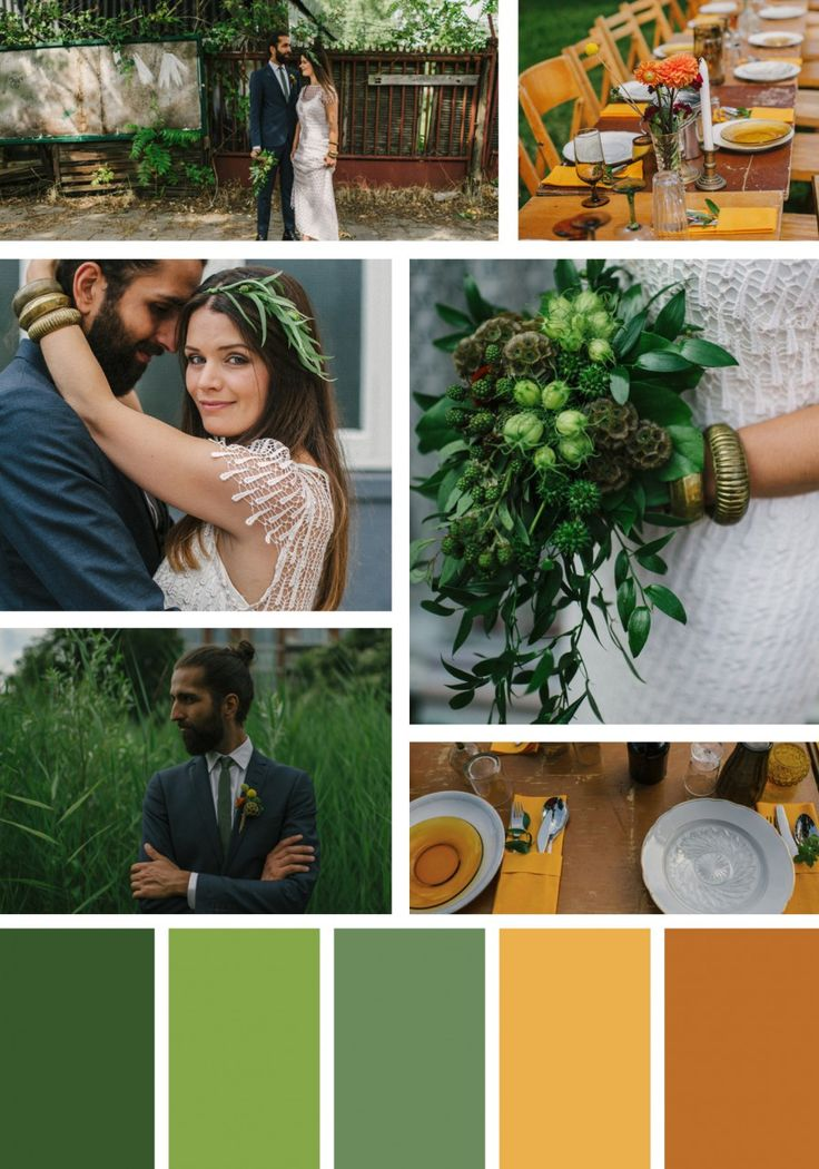 13 Green Wedding Color Palettes