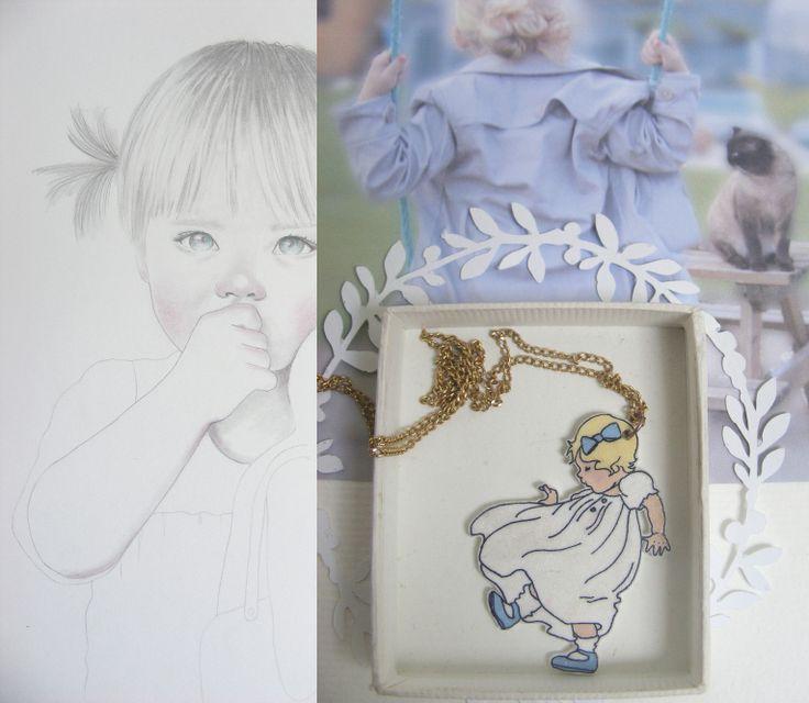 pendentif pour petite fille en plastic fou